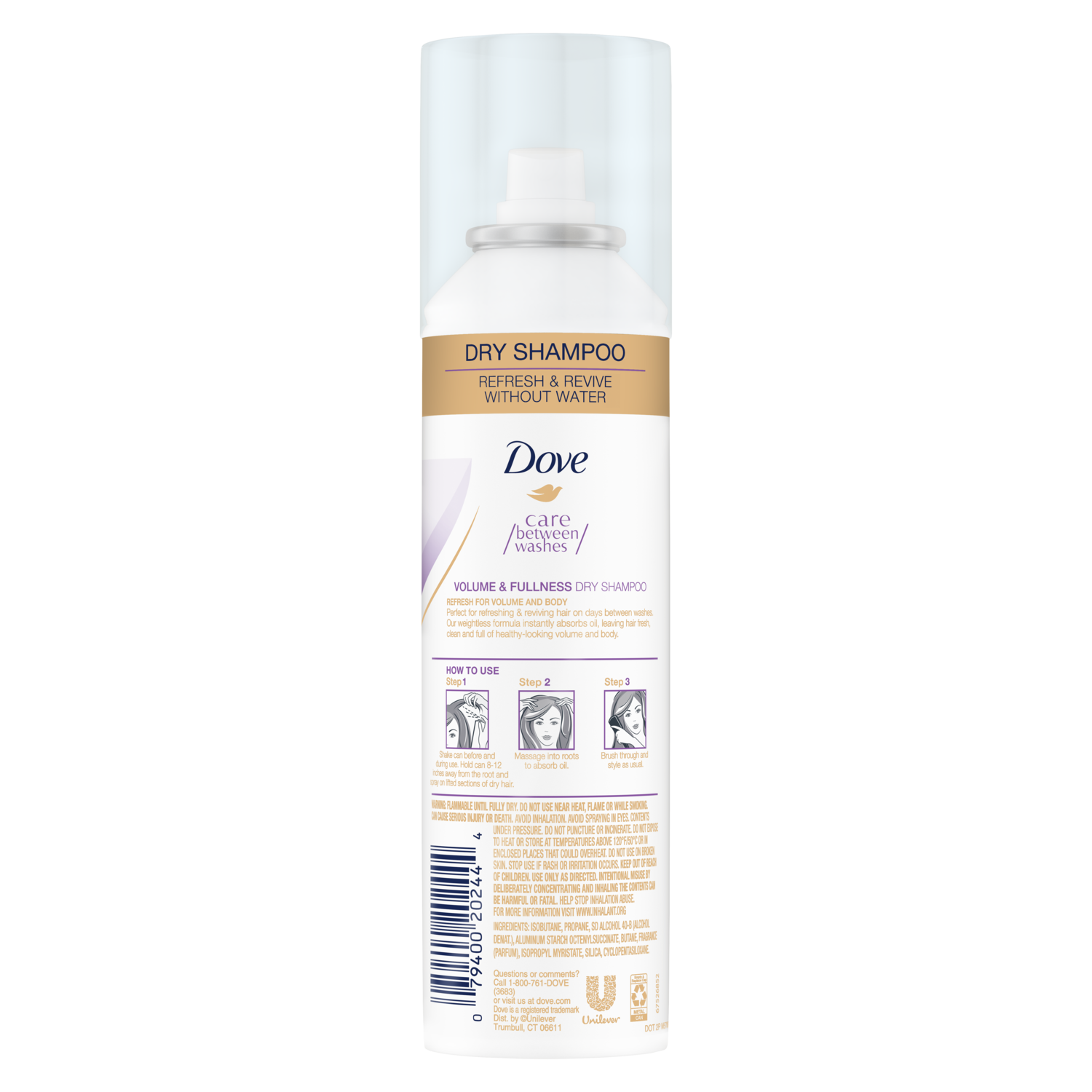 Dove Care Between Washes Go Active Hair Perfume