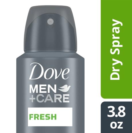 Dove Men+Care Stain Defense Dry Spray Antiperspirant Deodorant Fresh 3.8 oz simple