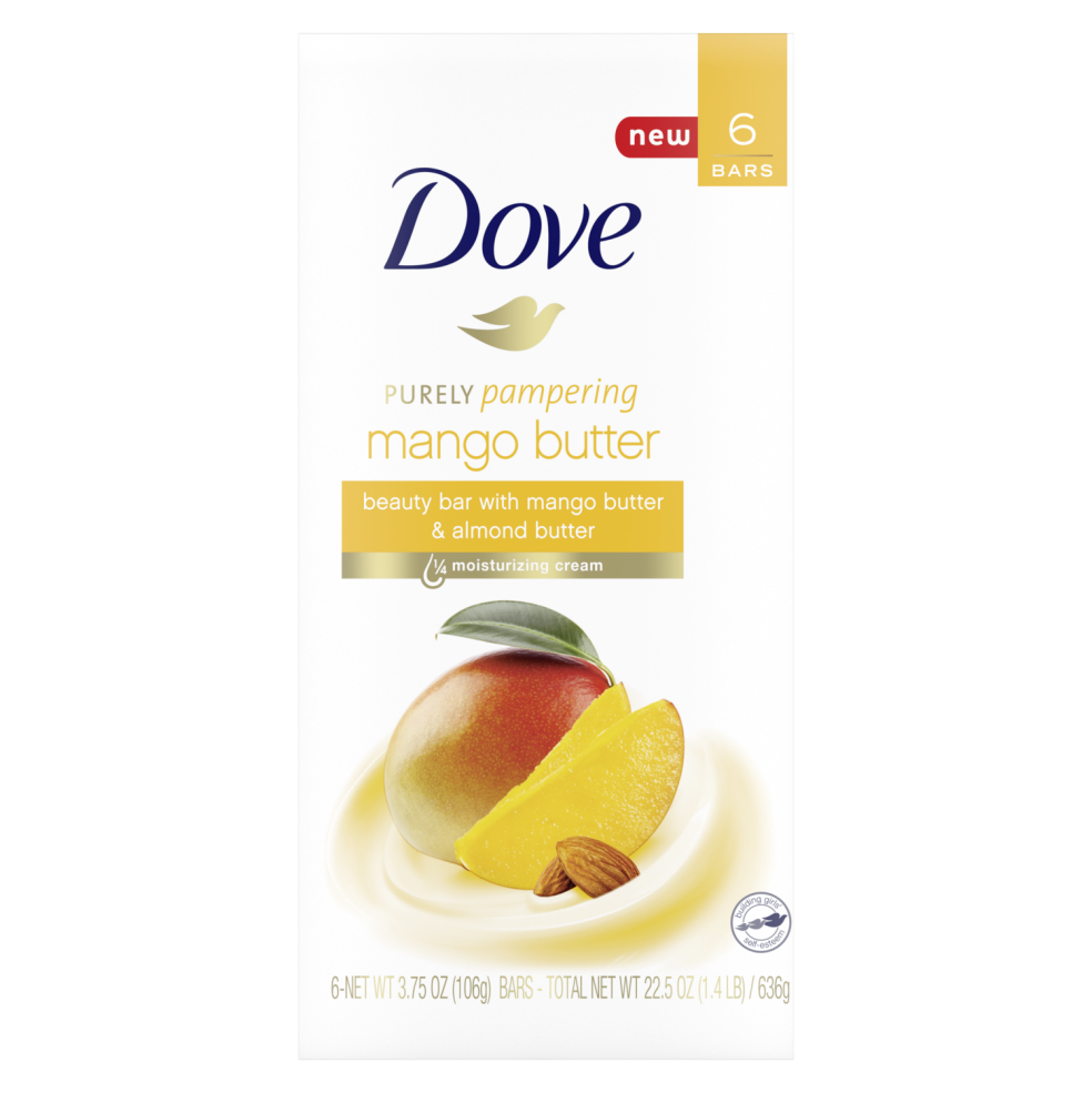Dove Purely Pampering Mango Butter Beauty Bar 6 Ct