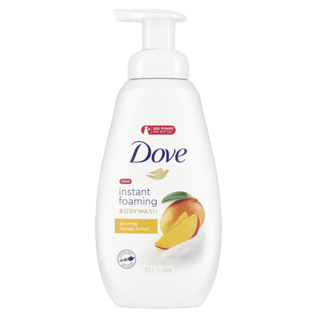 Dove Instant Foaming Body Wash Glowing Mango Butter