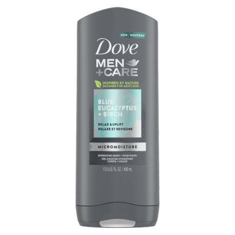 Men+Care Blue Eucalyptus + Birch Body and Face Wash 400ml
