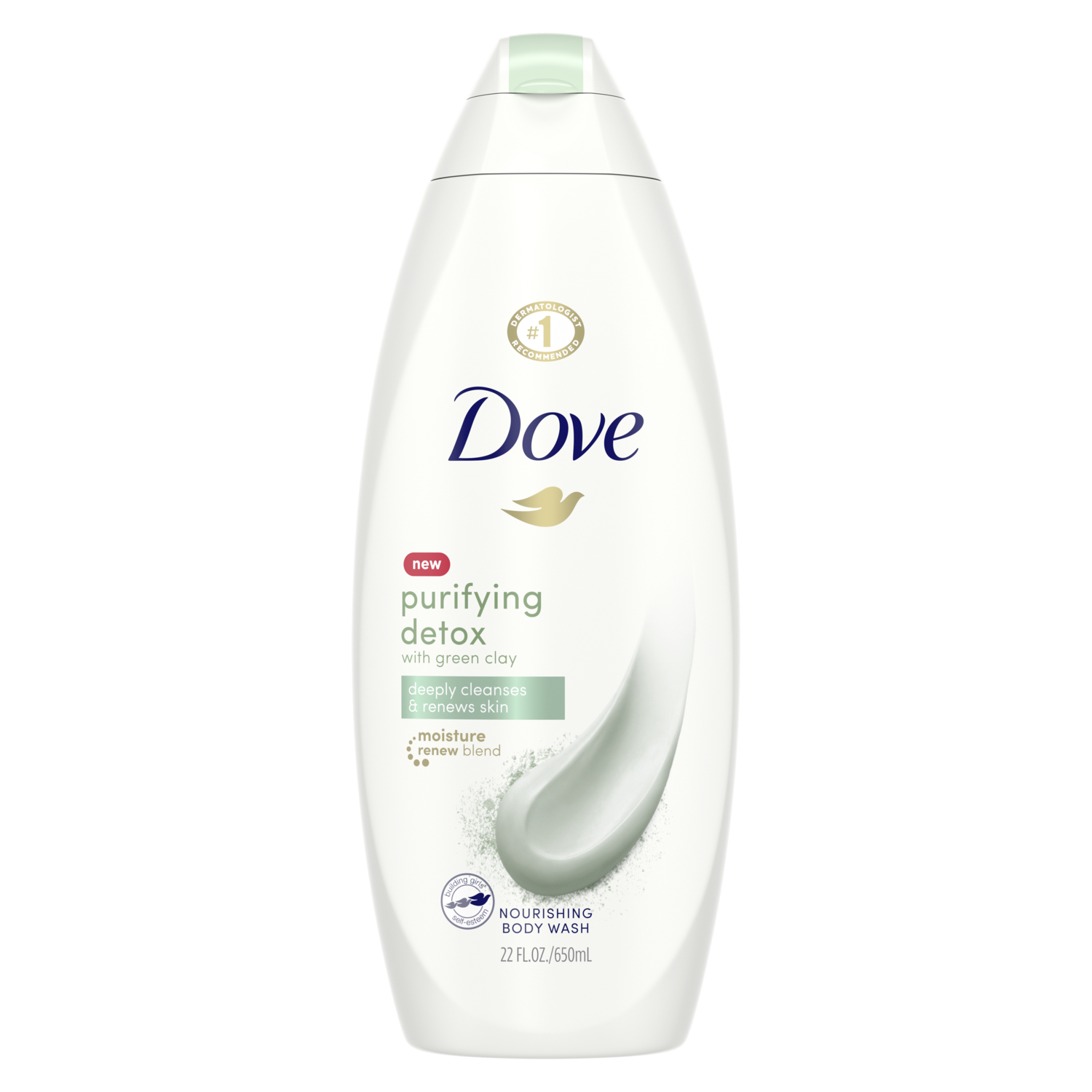 Dove Purifying Detox Body Wash With Green Clay