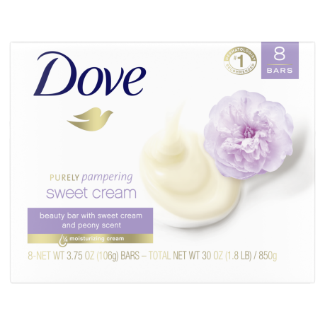 Dove Purely Pampering Sweet Cream and Peony Beauty Bar 6 bar 3.75oz