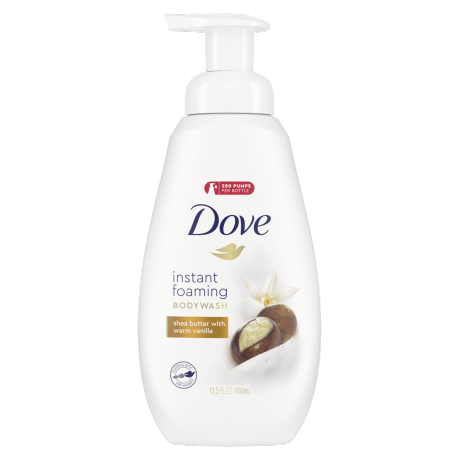Dove Instant Foaming Body Wash Shea Butter with Warm Vanilla