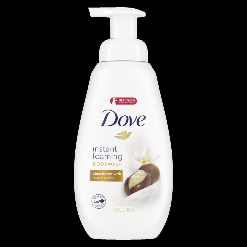 Dove Instant Foaming Body Wash Sensitive Skin