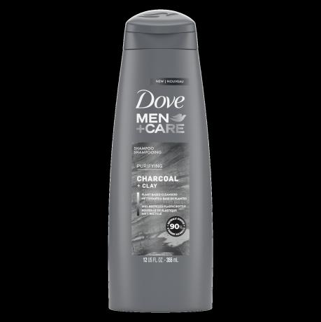 Étiquette de front du shampooing purifiant Dove Men+Care Elements Charcoal 12 oz