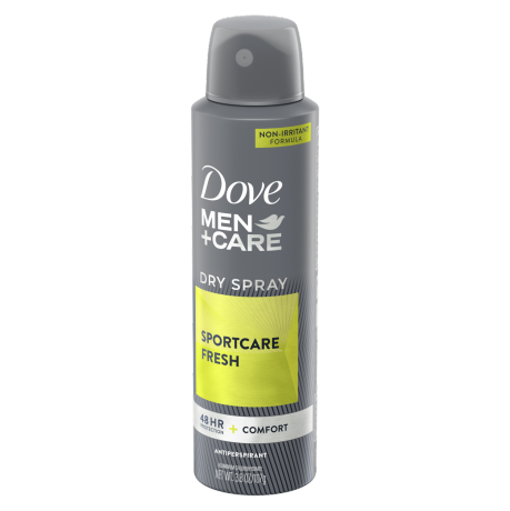 Dove Men+Care SPORT Dry Spray Antiperspirant Deodorant Active+Fresh 3.8 oz