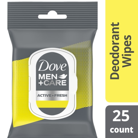 Dove Men+Care Deodorant Wipes Active + Fresh 25ct simple