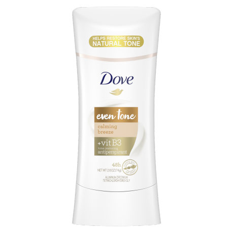 Dove Even Tone Antiperspirant Deodorant Calming Breeze 2.6oz