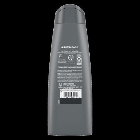 Étiquette de dos du shampooing 3 en 1 Dove Men+Care SportCare Endurance 12 oz