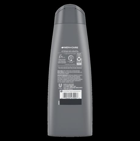 Étiquette de dos du shampooing + revitalisant 2n 1 Men+Care Hair Defense 12 oz
