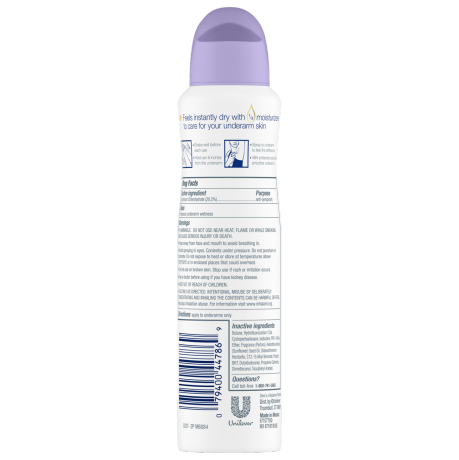 PNG - Dove Antiperspirant Deodorant Lavender Fresh Dry Spray 3.8 oz
