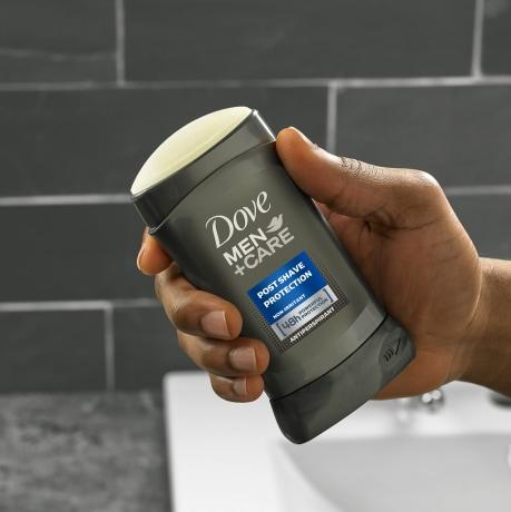 Dove Men+Care Post Shave Antiperspirant Stick 2.7 oz application