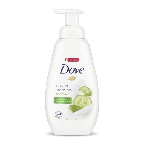 Dove Instant Foaming Body Wash Cucumber & Green Tea Scent
