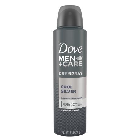 Dove Men+Care Cool Silver Dry Spray Antiperspirant 3.8oz