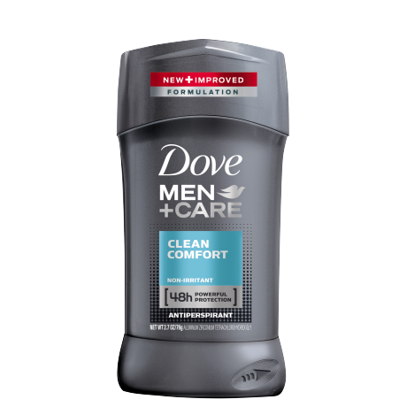 Dove Men+Care Clean Comfort Antiperspirant Stick 2.7oz