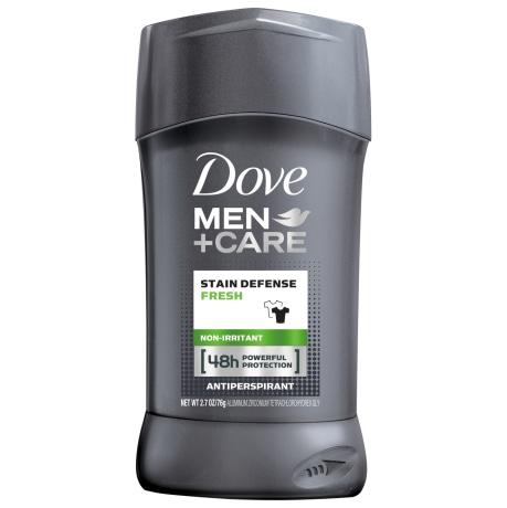 Dove Men+Care Stain Defense Antiperspirant Deodorant Stick Fresh 2.7 oz front