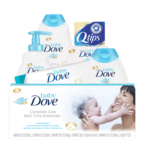 Baby Dove Set de regalo Complete Care Bath Time Essentials 6 artículos