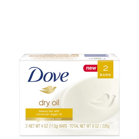 Dove Dry Oil Beauty Bar 4 oz 2 Bar