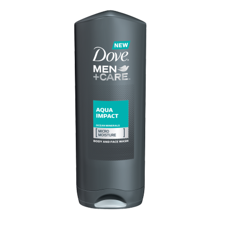 Dove Men+Care Aqua Impact Body and Face Wash 13.5 oz.