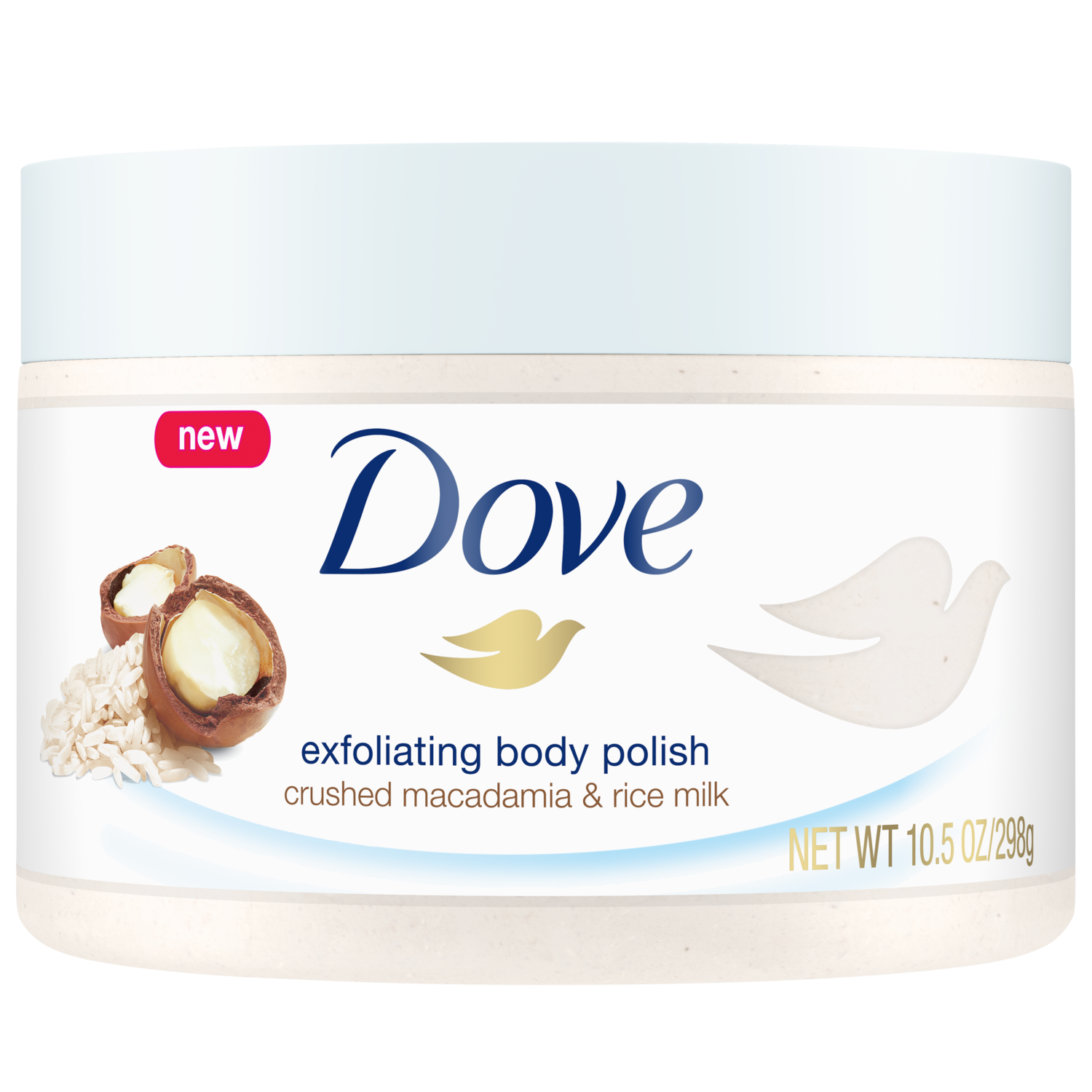 Dove Exfoliating Body Polish Crushed Macadamia Rice Milk