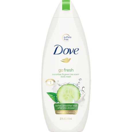 Dove Go Fresh Cool Moisture Body Wash 22 oz