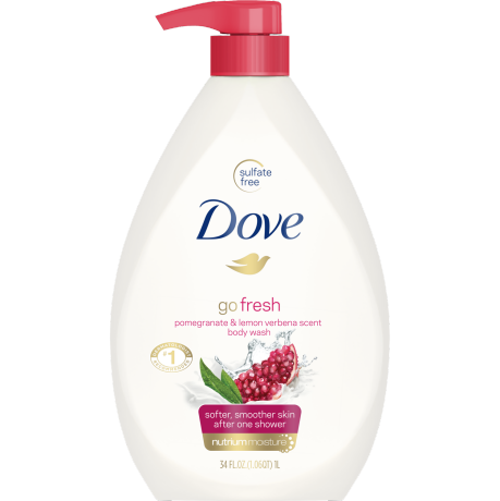 PNG - Dove Body Wash Pump Pomegranate and Lemon Verbena 34 oz