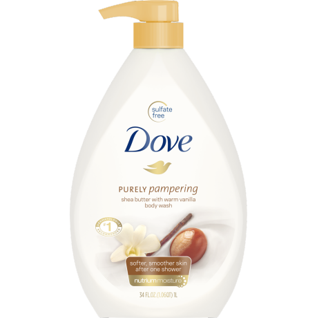PNG - Dove Body Wash Pump Shea Butter with Warm Vanilla 34 oz