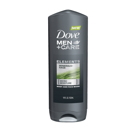 Dove Men+Care Elements Minerals + Sage Body Wash 18 oz