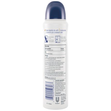 Dove Original Clean Dry Spray Antiperspirant 3.8 oz