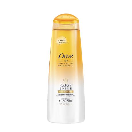 Dove Radiant Shine Shampoo 12 oz