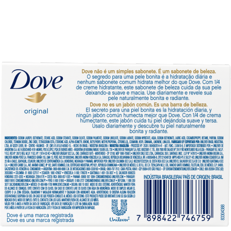 PNG - DOVE SKIN ORIGINAL SOAP90g BOP 7898422746759 CH