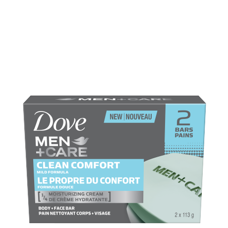 Men+Care Clean Comfort Body & Face Bar 2x113g