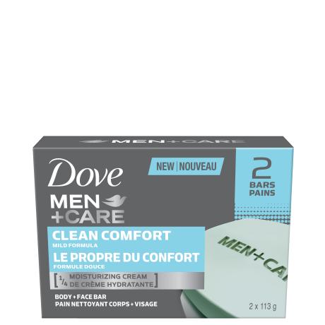 Pain nettoyant pour le corps et le visage Men+Care Le propre du confort 2 x 113 g