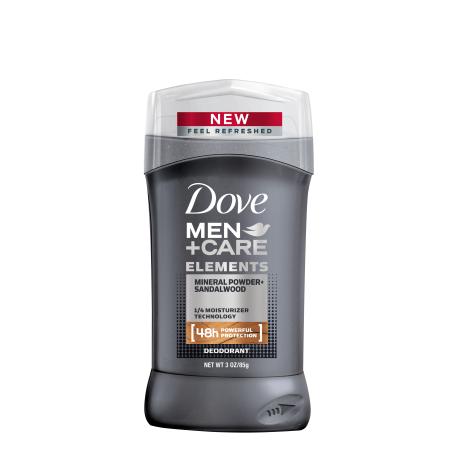 Dove Men+Care Elements Mineral Powder + Sandalwood Desodorante en Barra 3.0oz