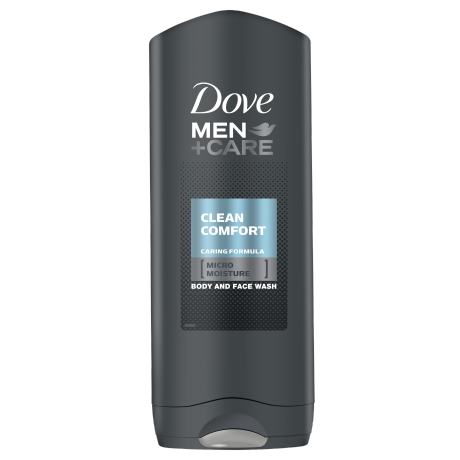 Dove Men+Care Clean Comfort body and face wash 250ml